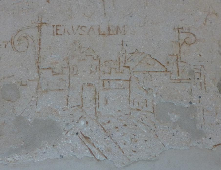 Antico graffito Palazzo Steri - Jerusalem